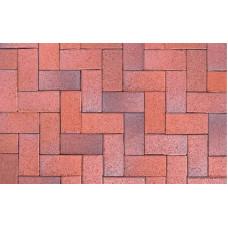 Клинкерная тротуарная брусчатка ABC Eisenschmelz-bunt-geflammt, 200х100х52 мм