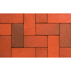Клинкерная тротуарная брусчатка ABC Altfarben-bunt-geflammt, 240х118х52 мм