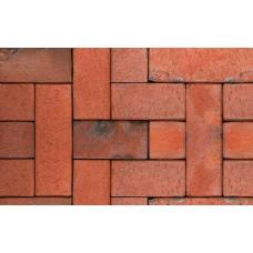 Клинкерная тротуарная брусчатка ABC Carbo (rot-bunt-Kohlebrand), 240х118х52 мм