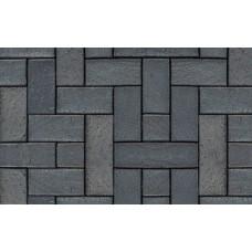 Клинкерная тротуарная брусчатка ABC Berlin blau-anthrazit, 200х100х45 мм