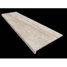Клинкерная ступень флорентинер Marbles Travertino (1200х330х30х12), Exagres