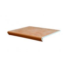 Клинкерная ступень флорентинер Interbau Nature Art Terra braun, 360*320*9,5 мм