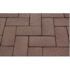 Клинкерная тротуарная брусчатка Lode Brunis коричневая шероховатая, 200*100*52 мм