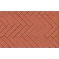 Клинкерная тротуарная брусчатка Lode Janka красная гладкая, 250*65*45 мм