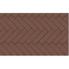Клинкерная тротуарная брусчатка Lode Brunis коричневая гладкая, 250*65*45 мм