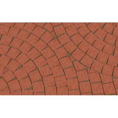 Клинкерная тротуарная брусчатка Lode Janka красная шероховатая, 60*60*52 мм