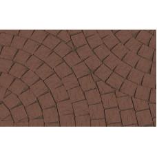 Клинкерная тротуарная брусчатка Lode Brunis коричневая гладкая, 60*60*62 мм