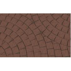 Клинкерная тротуарная брусчатка Lode Brunis коричневая гладкая, 60*60*52 мм