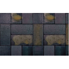 Тротуарная клинкерная брусчатка Roben Schwabing schwarz-buntgeflammt gefast, 200*100*40 мм