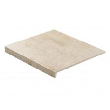 Клинкерная ступень прямая Stroeher GRAVEL BLEND 960 beige 30, 9430, 294х340х35х11 мм