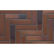Тротуарная клинкерная плитка Stroeher 124 braun-blau, 240*52*18 мм