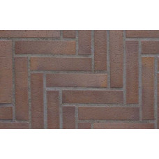 Тротуарная клинкерная плитка Stroeher 212 braun bunt, 240*52*18 мм