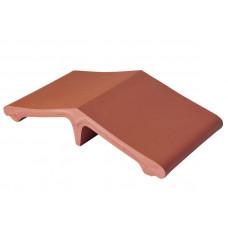 Добор для колпака на забор King Klinker 01 Рубиновый красный, 445x250x90 мм