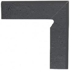 Клинкерный плинтус ступени правый 2-х элемен. Semir Grafit, Paradyz
