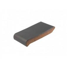 Подоконник ZG Clinker, цвет графит, размер ОК18, 180х110х25