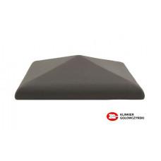 Керамический колпак на забор ZG Clinker, цвет графит, С38, размер 380х380
