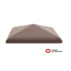Керамический колпак на забор ZG Clinker, цвет вишневый, С42, размер 425х425