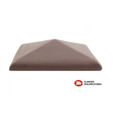 Керамический колпак на забор ZG Clinker, цвет вишневый, С57, размер 570х570