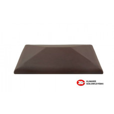 Керамический колпак на забор ZG Clinker, цвет вишневый, CP, размер 300х425
